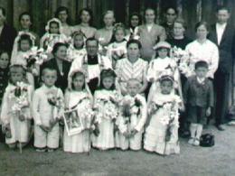 Ks. proboszcz W. Smereka - I Komunia św. w 1946 roku