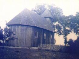 Kościół parafialny w Gawłowie, 1946 rok. Fot. Ks. W. Smereka